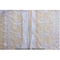 Quality Nice Bridal Lace Tulle Fabric Embroidered Wedding Net Fabric wholesale