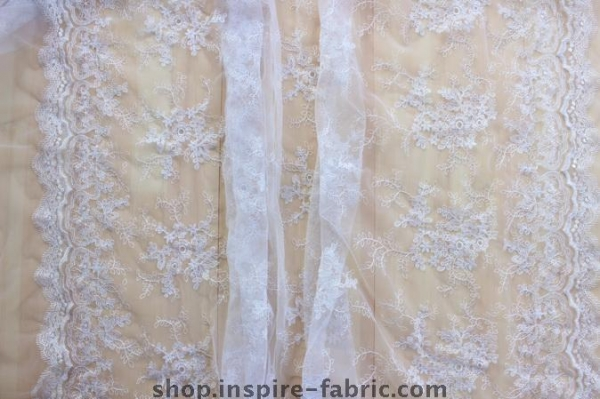 Cheap Nice Bridal Lace Tulle Fabric Embroidered Wedding Net Fabric for sale