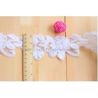 Embroidered Cording Lace Applique Bridal Lace White Wedding Lace