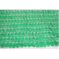 Good Quality Green Guipure Lace Fabric In Stock 4 Meters Polyester Chemical Lace Embr