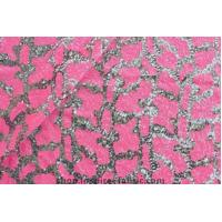 Quality Stylish Fabric Leopard Sequin Embroidery Magic Pink Spangle Mesh Fabric For Girl Dress wholesale
