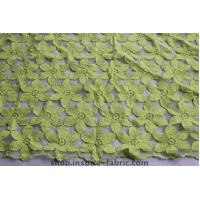 Green Leaves Organza Embroidery For Ladies Apparel Cotton Lace Fabric 120CM Width