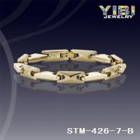 China Products: High Polished Narrow Gold Tungsten Carbide Bracelet STM-426-7-B on sale