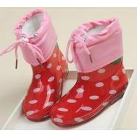 Quality elegant non-slip high quality children pvc rain boot with removeable socking wholesale