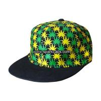 Quality Lastest design flat brim fitted hat with printing pattern profile wholesale