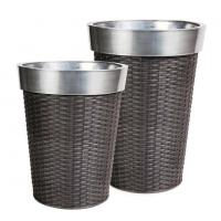 Quality outdoor furniture accessories rattan pots for patio and terraces OMR-P004 wholesale