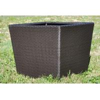 Quality Rattan square flower pots for indoor or outdoor garden pot furniture OMR-P005 wholesale