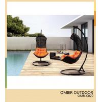 Quality Black synthetic wicker swing chair patio hanging swing chair OMR-C020 wholesale