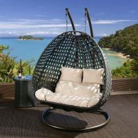 Quality Modern Rattan Hanging chair with Cream cushion covers OMR-C048 wholesale