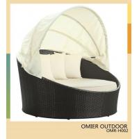 Buy cheap supply wicker/rattan outdoor round bed with shelter and canopy OMR-H002 from wholesalers