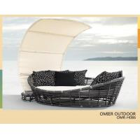 Buy cheap 2013 New style all weather outdoor wicker day bed with canopy OMR-H086 from wholesalers