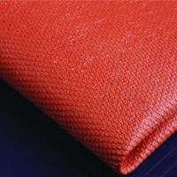 China Silicone coated Fiberglass Cloth fabric 0.43mm black on sale