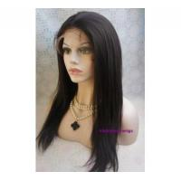 China Yaki straight Indian remy hair lace front with silk top 18 inch-LSW04 on sale
