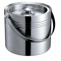 Buy cheap IB047-05 2.2L Stainless Steel Double-Walled Bar Ice Bucket Wine Cooler Ice Container With Lid from wholesalers
