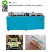 China Semi automatic face facial tissues box packing machine on sale