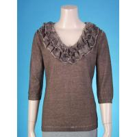 Quality Ladies' pullover with speically garment-dyed wholesale