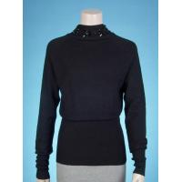 Quality ladies' knitted pullover + plastic stone wholesale
