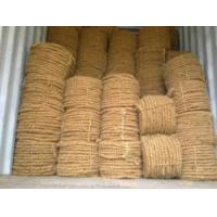China Machine Twisted Coir Fiber / Curled Coir / Coir rope on sale