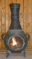 China Gas Chimineas Pine Chiminea Outdoor Fireplace w/Gas[ALCH015GK] on sale