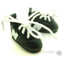 Blythe/Pullip Shoes Micro N Sneakers Leather Black