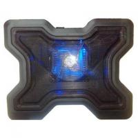 China 1 Fan Black USB Notebook Laptop Cooler Cooling Pad on sale