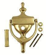 Quality 6 1/2 Inch Tall Solid Brass Traditional Door Knocker with Viewer wholesale