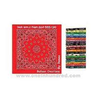 Quality Paisley II Collection - Light Blue - Imported paisley design bandanna made of 100% cotton. wholesale