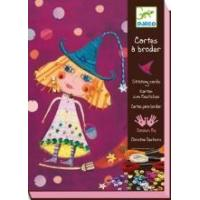 Quality Arts & Crafts Djeco Stitching Cards - Witches wholesale