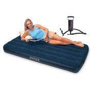 """China Intex--Air Mattress--Single size(the mattress come with Hand Pump Included"""") on sale"""