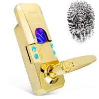 Quality TS-FPL402 Gold Access Code Security Fingerprint Door Lock wholesale