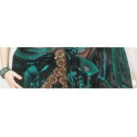 China Black Net Saree with Blouse on sale