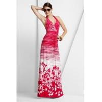 Quality BCBGMAXAZRIA Red White Maple Leave Long Dress wholesale