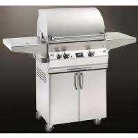 Quality Fire Magic Gas Grills Aurora A430 Natural Gas All Infrared Grill With Single Side Burner On Cart wholesale