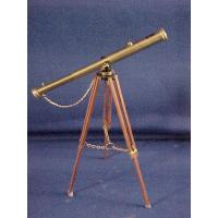 Quality Brass Floor Telescope on Wood Tri-pod Stand wholesale