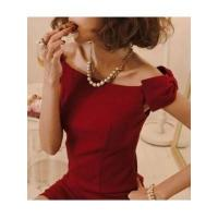 Quality European Fashion Style Sleeveless Off the Shoulder Boat Neck Bowtie Lady Night Out Dress wholesale