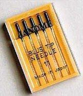 China Janome Sewing Machine Blue Tip Embroidery Needle 5 ctpk on sale