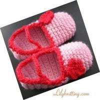China PATTERN in PDFCrocheted maryjane booties (Toddler Slippers 3)child size 5 to 6 and 7  8 on sale