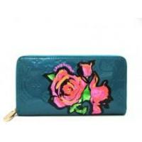 China Louis Vuitton Monogram Roses Vernis Zippy Wallet Blue on sale