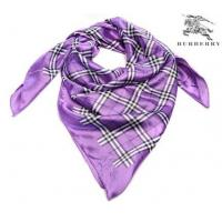 China Burberry Silk Scarf Lilac/White/Black on sale