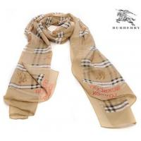 China Burberry Silk Scarf Straw Yellow/White on sale