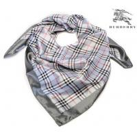 China Burberry Silk Scarf Charcoal Grey/Red/Black on sale
