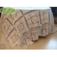 Quality Vintage Style Hand crochet Cotton Table cloth/Bedspread, 74 x110 wholesale