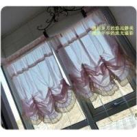 Quality Victorian Pink with Lace Adjustable Balloon Curtain wholesale