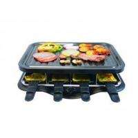 Quality Square Electric Raclette Grill XJ-09380 (steel plate), /double-layer electric bbq grill /electric wholesale