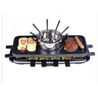 Quality Electric Grill With Fondue Set Optional , non stick coating pan XJ-6K114CO, wholesale