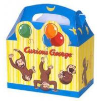 Quality Curious George Party Loot Boxes 4 Pack wholesale