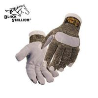 Quality Cut Resistant Gloves with Leather Reinforced Palm - Cut Level 5 wholesale
