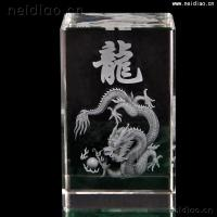 Quality Chinese Dragon-Square 3D Laser Crystal wholesale