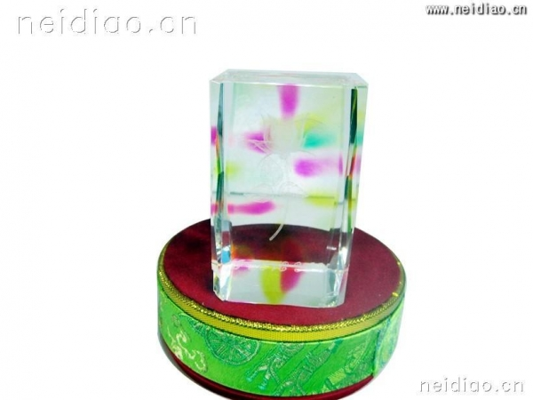Cheap Background color at the end of a single rose-Square 3D Laser Crystal for sale