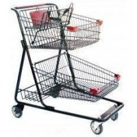 China Retail Supermarket Shopping Carts with wheels for groceries American style on sale